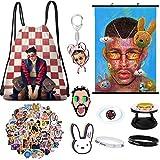 Bad Bunny Merch, autocollant pour sac à dos, affiche, bracelet, support de téléphone