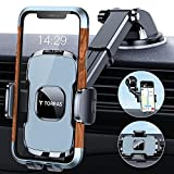 TORRAS Car Phone Holder Mount, [Heavy Duty] Cell Phone Holder for Car Dashboard Windshield Air Vent, Car Phone Mount Cell Phone Car Mount Compatible with iPhone 12 Pro Max Galaxy Note S20 S21 Ultra