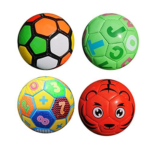 F Fityle 4 Piezas de Balón de Fútbol Tamaño 2 Entrenamiento Suave Pelota de Espuma Saltarina Juguetes de Recreación Regalos