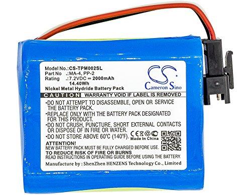 CS-TPM002SL Akku 2000mAh Kompatibel mit [Tivoli] PAL BT, PAL+, [TEAC] R-1, R-2, R-5, R1, R2, R5 Ersetzt BP-R1, BP-R12EU, BP-R1EU, BP-R2, BP-R5, MA-4, PP-2