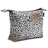 Pochette Multiuso per Donna e Uomo - Porta Trucchi da Borsa Realizzato a Mano - Astuccio Porta Oggetti moderno e comodo in Tessuto 22,5 X 16 X 4 cm. (002 Camel - Leopard Skin)