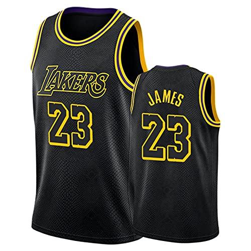 James # 23 Camisa de Baloncesto, 90s Hip-Hop Party Men's Basketball Uniform, Space Movie Jersey Black S-XXL. Niños/Uniformes de Baloncesto Juvenil Black-S
