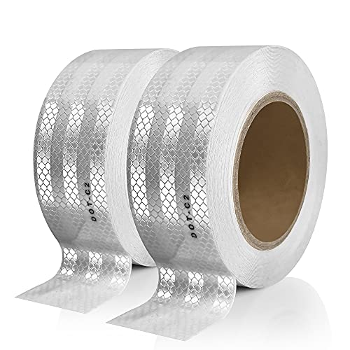 Seven Sparta 2 Inch x 100 Feet DOT-C2 Reflective Tape Adhesive Safety Conspicuity Outdoor Reflector Tape (Silver, 100FT)