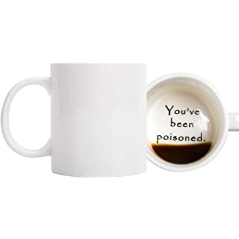 FLY SPRAY Funny Coffee Mug YOU'VE BEEN POISONED Novelty Creativity Drink Cups Unique Joke Great Gag Gift Idea For Men Women