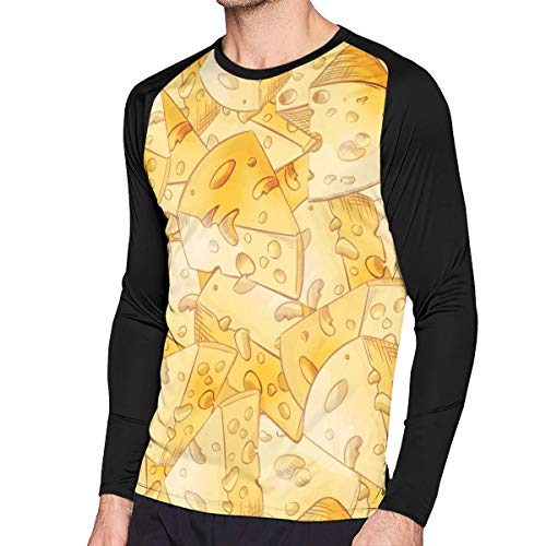 Fashion Cheese Slices Crew-Neck T Shirts for Man