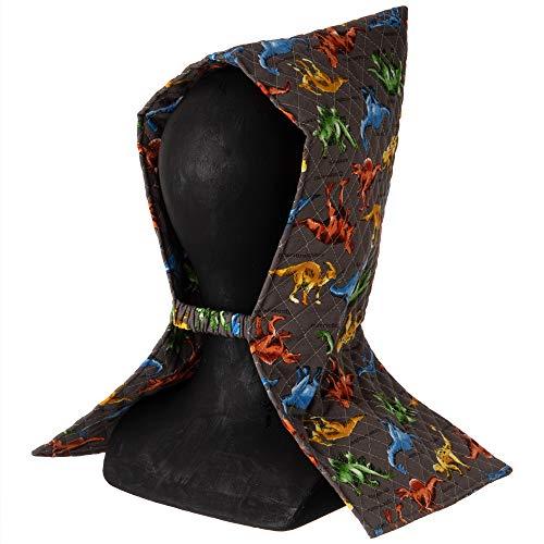【Amazon.co.jp 限定】KIYOHARA 防災頭巾 子供用 ダイナソーワールド 横25cm×縦44.5cm グレー MOW109-HD