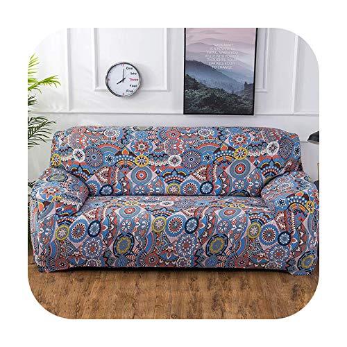 Sofahusse, bedruckt, dehnbar, bunt, geometrisch, elastisch, Sofaüberwurf, Möbel, Decke, Handtuch, volle Abdeckung, farbig, 4-2 Stück