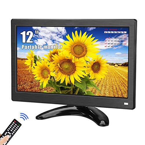 Monitor portátil de 12 Pulgadas, Kenowa Pantalla Full HD 1366 * 768 con Interfaz HDMI VGA AV BNC para cámara de Respaldo automático PC TV CCTV Vigilancia de Oficina en casa PS3 PS4 Pantalla extendida