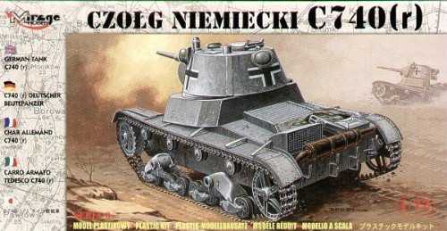 Mirage Hobby 72619 – Chars Allemands C 740, R