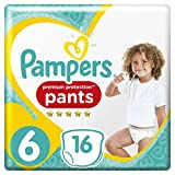 Pampers Premium Protection Pants, misura 6, 16 pannolini