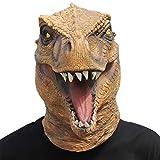 Miwaimao CreepyParty - Máscara de dinosaurio T-rex con cabeza de látex realista para disfraz de Halloween, carnaval, cosplay