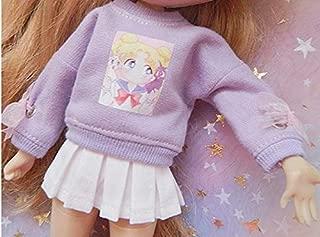 Studio one Purple Cartoon Long-Sleeve Sweater+Skirt Cloth for 12 inch Doll 1/6 Blyth Doll 30 cm BJD Doll
