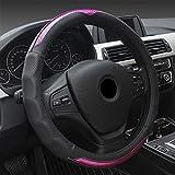 MDHANBK Couverture de Volant de Voiture Housse de Protection en Cuir, pour CRV 2007 Chevrolet Captiva Suzuki SX4 Elantra 2017 Subaru Legacy Accessoires intérieurs de Voiture