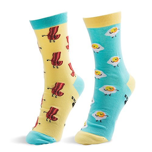 Pavilion Gift Company Bacon and Eggs-S/M Unisex Socks, black, Small
