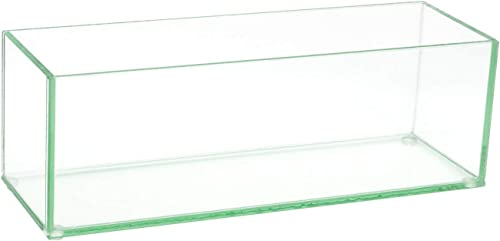 """lowest Flower Glass 2021 Vase Decorative Centerpiece for Home or Wedding by Royal Imports - Oblong Rectangle Shape, 12"""" Long, 4"""" Hx4 W high quality Opening, Clear online sale"""