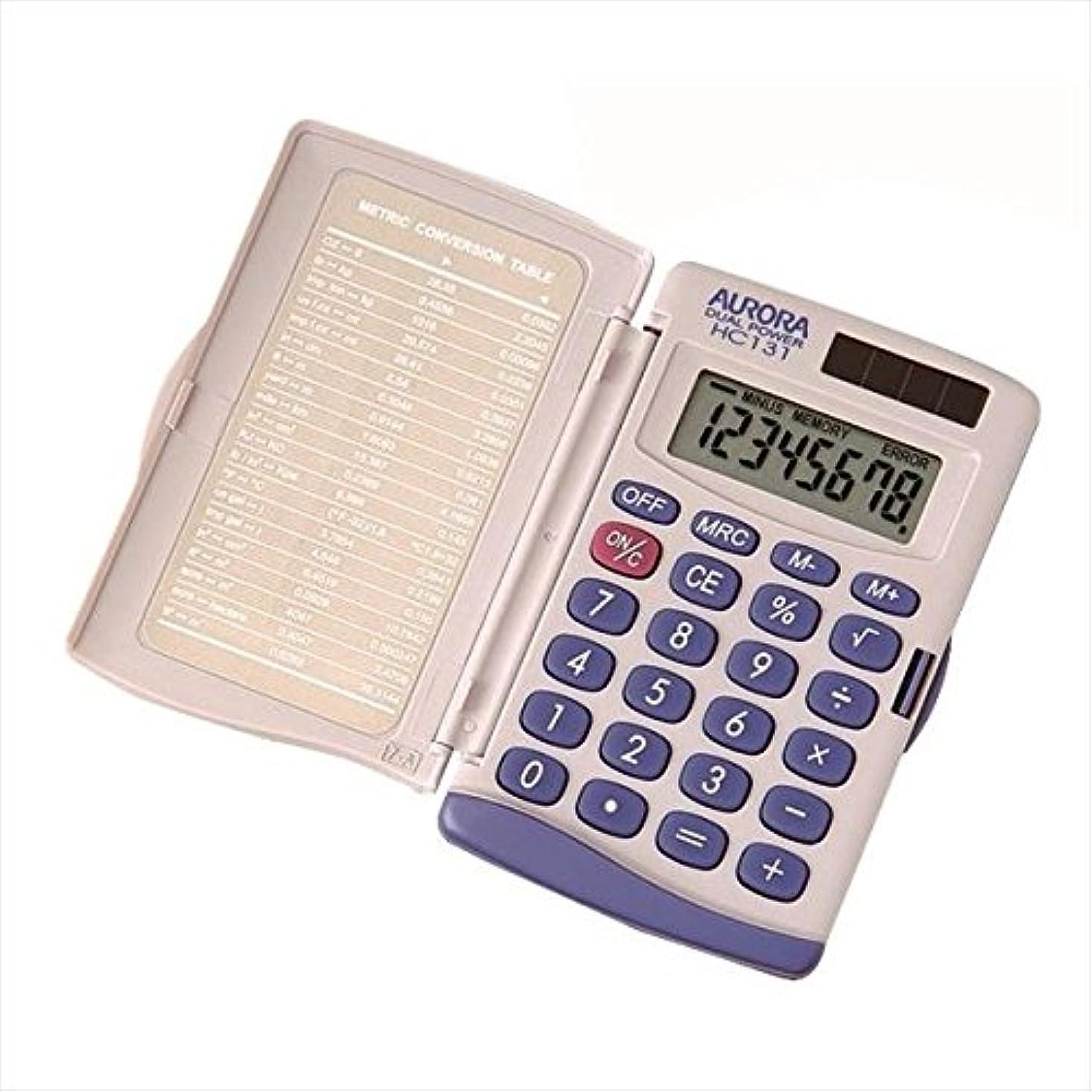 ぶら下がる買収唯物論オーロラジャパン 電卓 ハンディ電卓 8桁表示 HC131