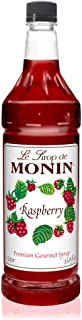 Monin - Raspberry Syrup, Sweet and Tart, Great for Cocktails and Lemonades, Gluten-Free, Vegan, Non-GMO (1 Liter)