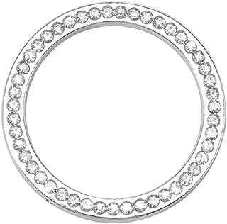 PoeHXtyy Coches de Motor de una Llave Inicio Stop Encendido bot/ón Tapa Decorativa Rhinestone Cristal Anillo