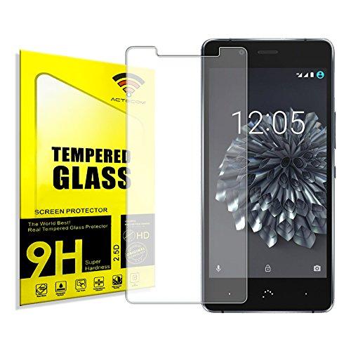 actecom® Protector DE Pantalla para BQ AQUARIS X5 Plus Cristal Vidrio Templado