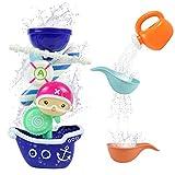 yoptote Juguetes Baño Bebe Bañera Piscina Barco Pirata Regadera Animal Ruedas Giratorias Bath Squirters Toys Multicolor Niños Niñas Regalos de Pascua 2 3 año