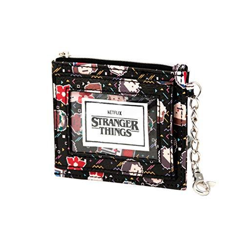 KARACTERMANIA Stranger Things 8 bits-Monedero Tarjetero, Multicolor