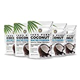 Earth Circle Organics Pure Young Dried Coconut Water Powder - Unsweetened Electrolyte Supplement for Hydration and Energy - No Additives, Natural Keto Water Enhancer, Vegan, Gluten Free - 8oz (5 Pack)