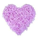 Naler 2000 pétalos de Rosa Artificiales para la decoración doméstica del Partido Violeta Claro