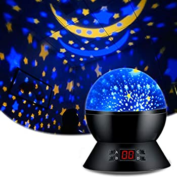 Star Sky Night Lamp for Baby Gifts for 1-12 Years Old Boys Girls Star Projector Night Light with Timer Rotating Projection Lamp Ceiling Stars Glow in The Dark