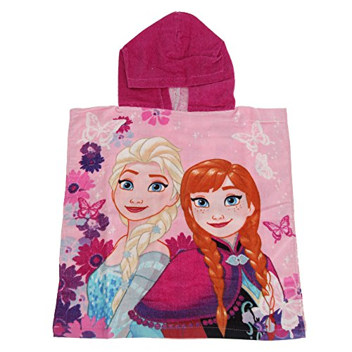Disney Childrens Girls Frozen Elsa And Anna Poncho Towel (One Size) (Pink)