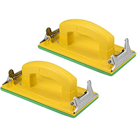 Autobody Polishing Metal Drywall Hand Sanding Block Manual Sandpaper Holder for Wood uxcell Hand Sander with Handle