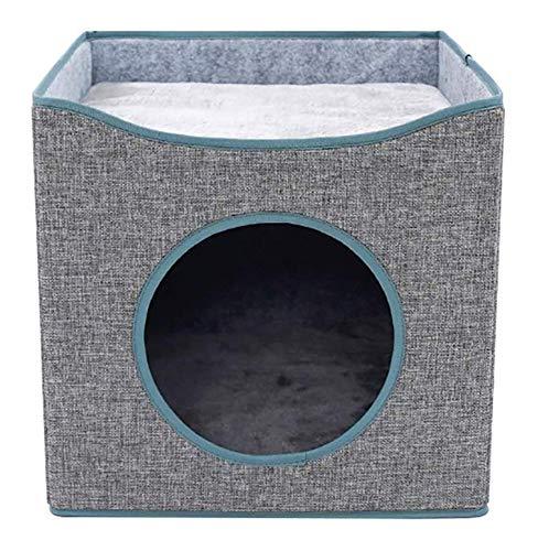 CVXCVCBCG Grey Twee lagen kat en hond huisdier-nest Folding huisdier-bed met afneembaar kussen gebruikt om een comfortabele ideale pet nest voor honden of katten te plaatsen