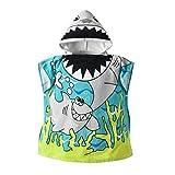 BenCreative Bebé Niños Niñas con Capucha Albornoz Niños Precioso Manta de Algodón Absorbente Toalla de Baño (Sirena) Grey Shark 60 * 60cm