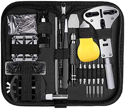 Uhrenwerkzeug Set 153 TLG, Cadrim Uhrmacherwerkzeug Uhr Werkzeug Tasche Reparatur Set Uhrwerkzeug Gehäuse Öffner für Die Meisten Uhrens