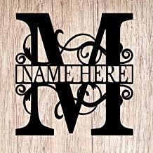 AJD Designs Personalized Last Name M Door Hanger - 20