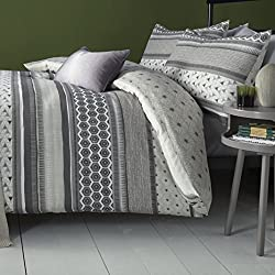 Bold bright and beautiful this geometric bedding offers a statement design executed with a modern contemporary colour palette. Fusion offers an affordable collection of fashion bed linen, cushions and curtains will brighten up any room at prices whic...