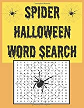 Spider Halloween word search: Happy Halloween, A Scary Fun Workbook, Large Print Challenging Puzzles About Halloween for a...