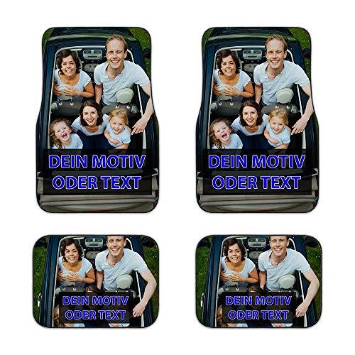 Universale Auto-Fußmatte zum selbst Gestalten mit eigenem Foto bedrucken lassen/Autoteppich / 4er Set - Vorn & Hinten