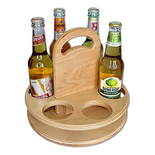 Boystoys.de Bierträger aus Holz rund neutral