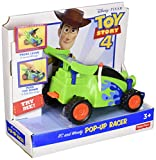 For kids ages 3 years and older ​​Press button on back of RC to see Woody pop up & the racer transform! ​​Roll vehicle to cruise from one adventure to the next. ​Includes 1 RC & Woody Pop-Up Racer. Collect additional Toy Story pop-up vehicles by Fish...