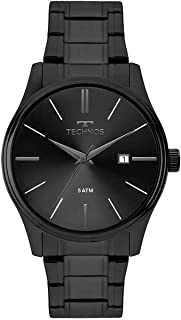 Relógio Technos, Pulseira de Aço Inoxidável, Masculino Preto 2115MPO/4P