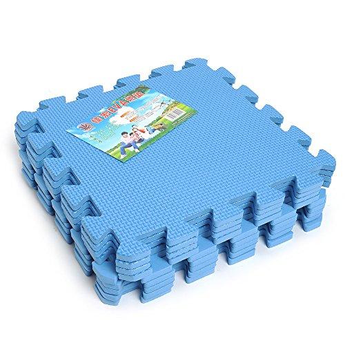 Gulin Puzzlematte, Anti-rutsch-Kinder Spielmattem, Soft Eva Krabbelmatte- Blau,9 Stück
