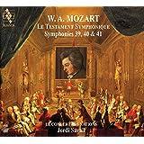 ~交響曲による遺言~ モーツァルト : 交響曲第39, 40 & 41番 / ジョルディ・サヴァール   ル・コンセール・デ・ナシオン (Le testament symphonique ~ Mozart: Symphonies 39, 40 & 41 / Jordi Ssavall, Le Concert des nations) [2SACD Hybrid] [Import] [日本語帯・解説付]