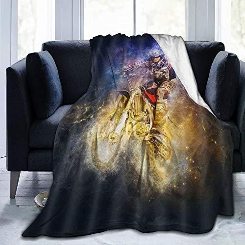 XINGAKA Flanell Fleece Soft Throw Decke,Rennfahrer Motorrad,für Sofas Sofa Stühle Couch Leicht,warm und gemütlich 153x127cm