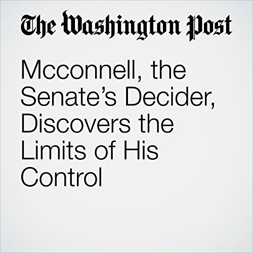 Mcconnell, the Senate's Decider, Discovers the Limits of His Control copertina