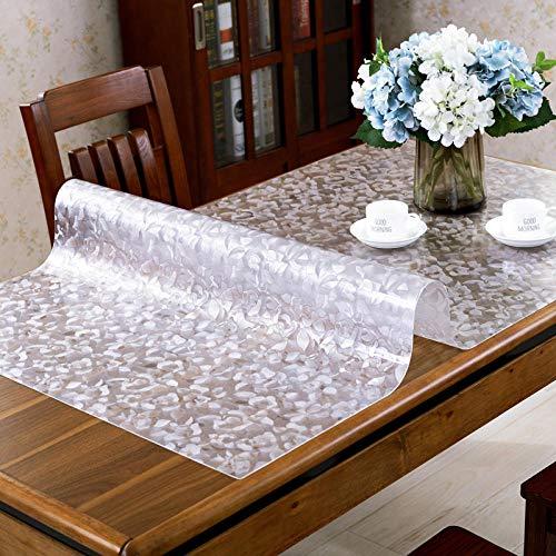 TaoRan Mantel, Cubierta de Tela de Mesa de plástico Transparente Protector de Mesa Impermeable de PVC Resistente para el Escritorio de la Mesa del Comedor-(Color-7)_(70 * 140 cm)