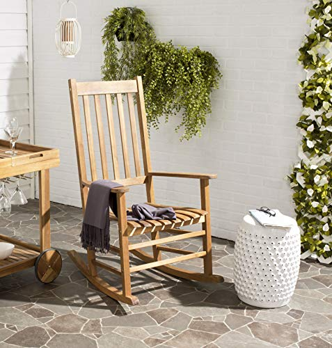 Safavieh Outdoor Living Collection Shasta Schaukelstuhl, Teakbraun braun (Teak)