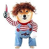 Disfraces de Halloween para perro, disfraz de muñeca para perro, disfraz de perro para...