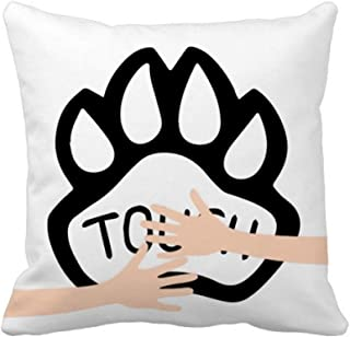 wimhy Dog Paw Quote DIY Design Hug Throw Pillow Square Cover