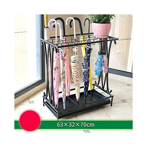Stockage debout Porte-parapluie, porte-parapluie en métal à usage domestique (Color : Black)
