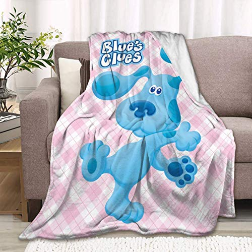 959 Manta personalizada para niños con diseño de perro de dibujos animados, color azul, para cama perezosa, regalo para niños y adultos de 152 x 127 cm